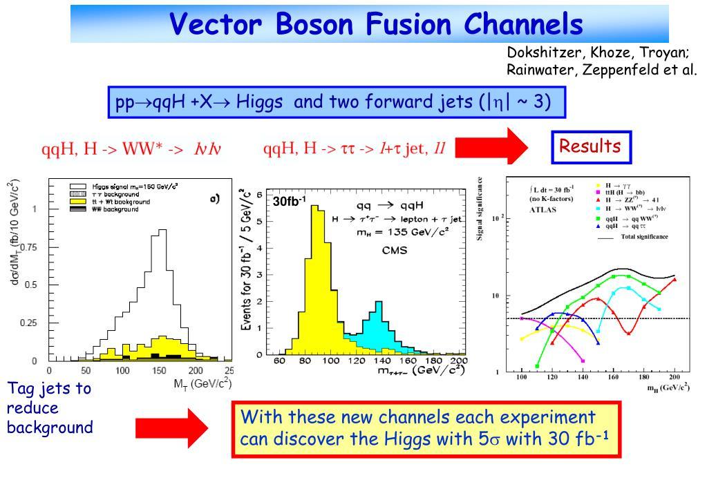 Vector Boson Fusion Channels