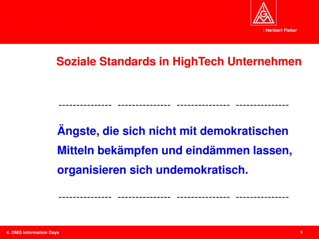 Soziale Standards in HighTech Unternehmen