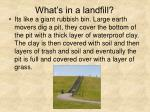 what s in a landfill