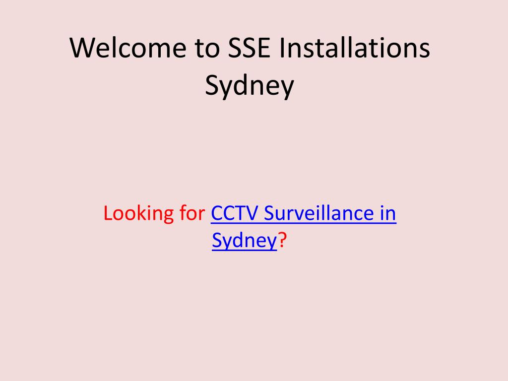 welcome to sse installations sydney l.