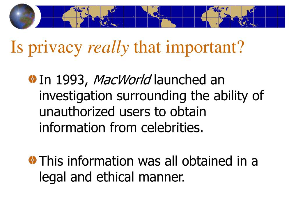 Is privacy
