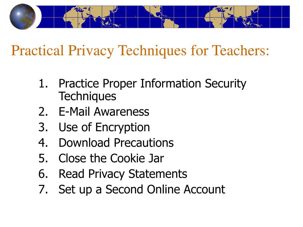 Practical Privacy Techniques for Teachers: