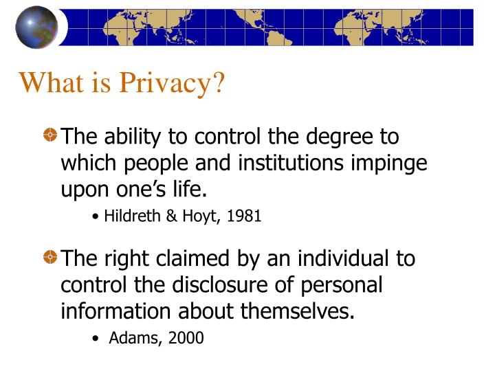 What is privacy