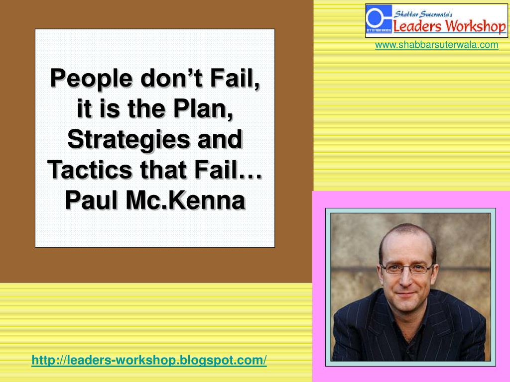 People don't Fail,
