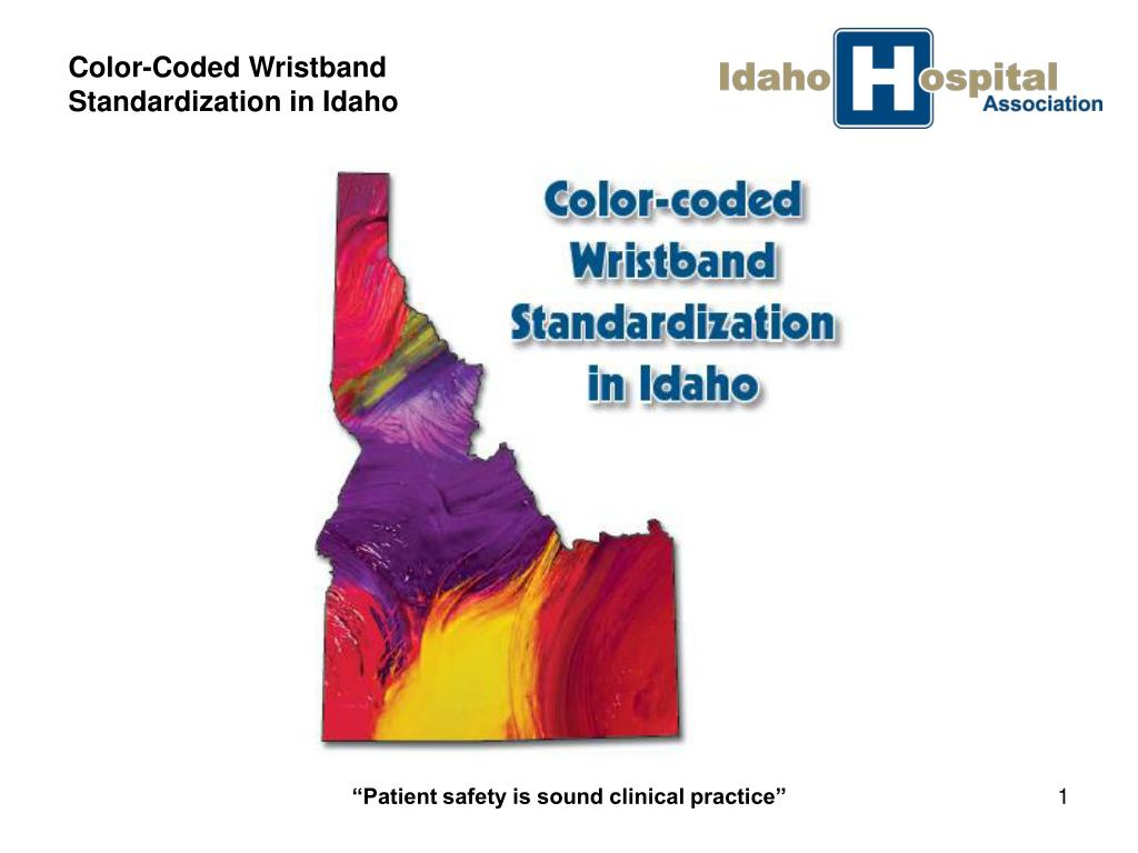 color coded wristband standardization in idaho l.