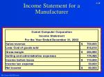 income statement for a manufacturer1