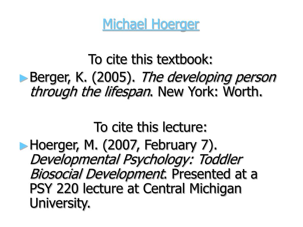 Michael Hoerger