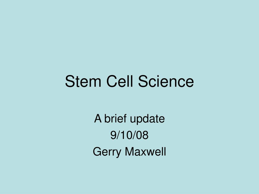 stem cell science l.