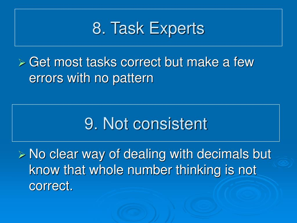 8. Task Experts