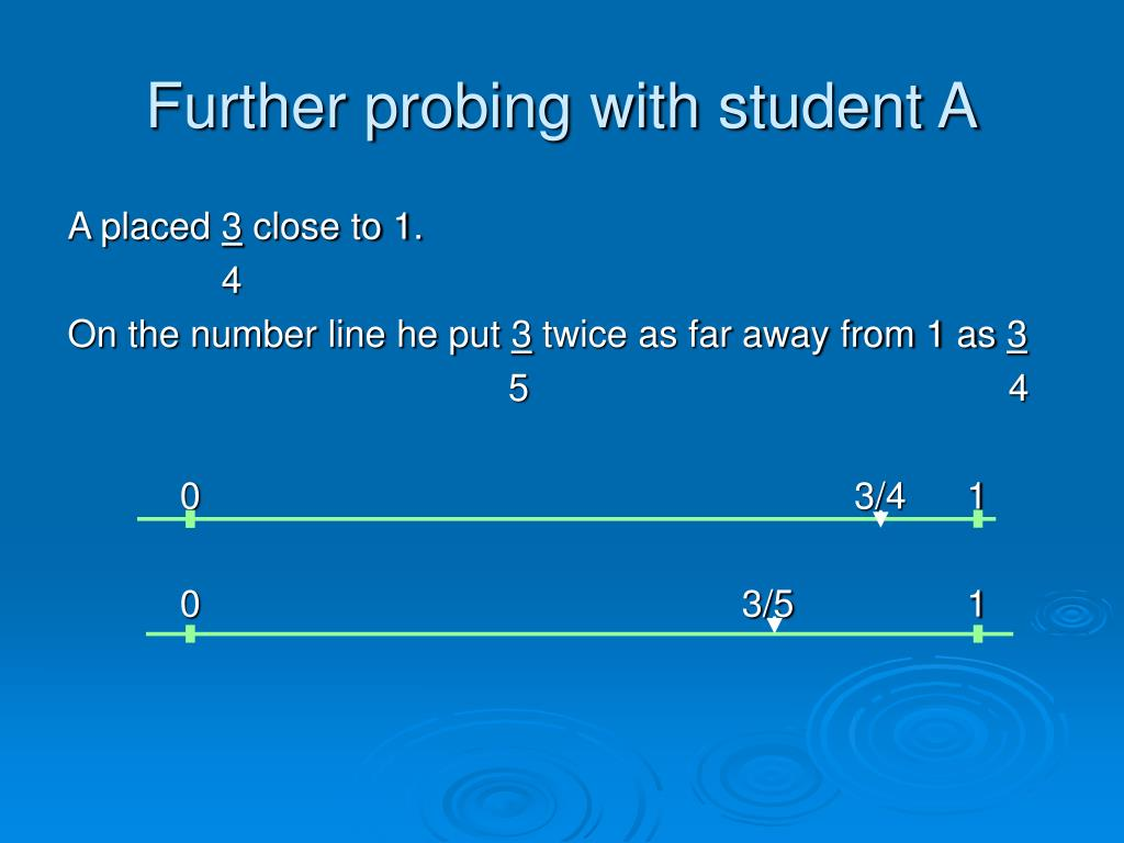 Further probing with student A