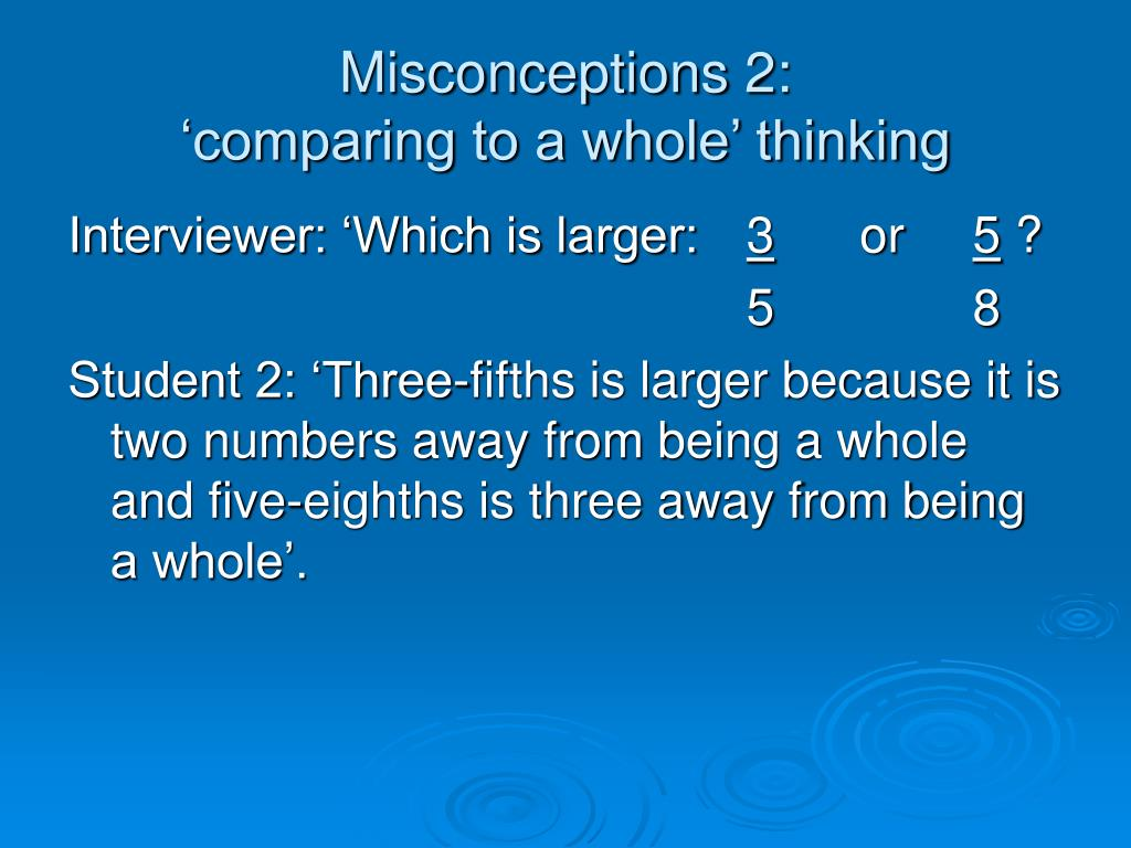 Misconceptions 2: