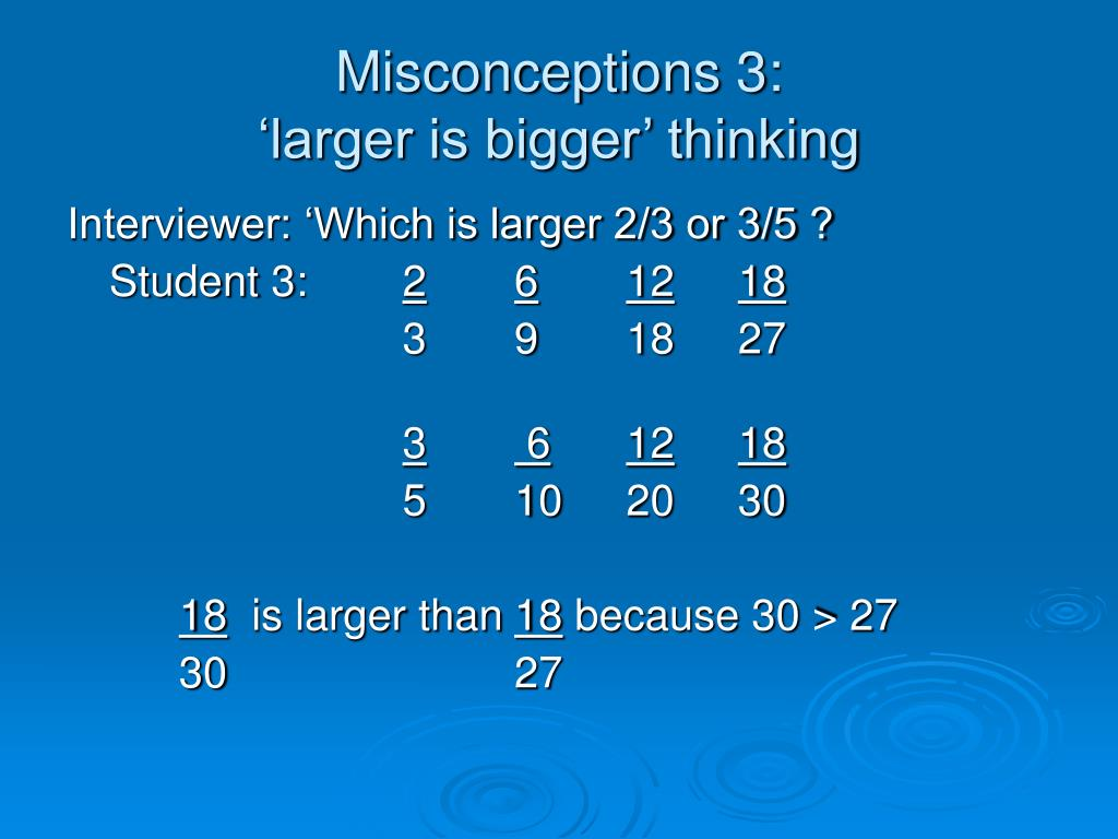 Misconceptions 3: