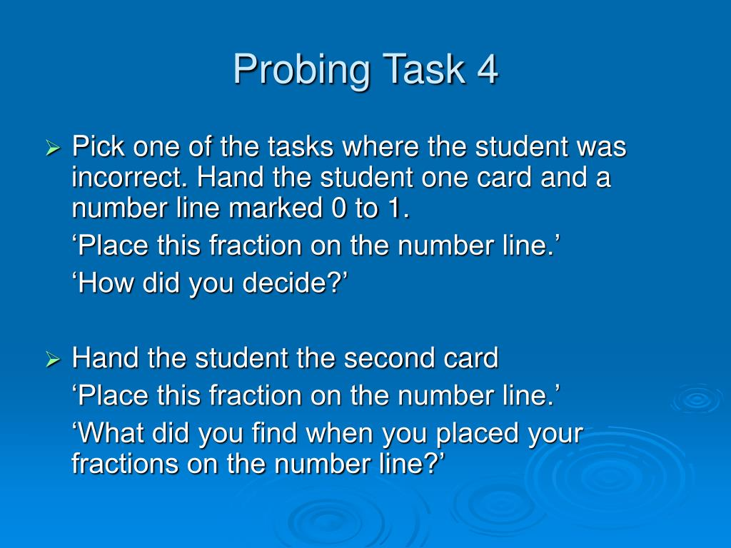 Probing Task 4