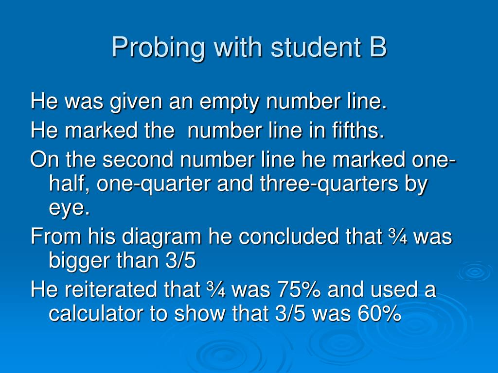 Probing with student B
