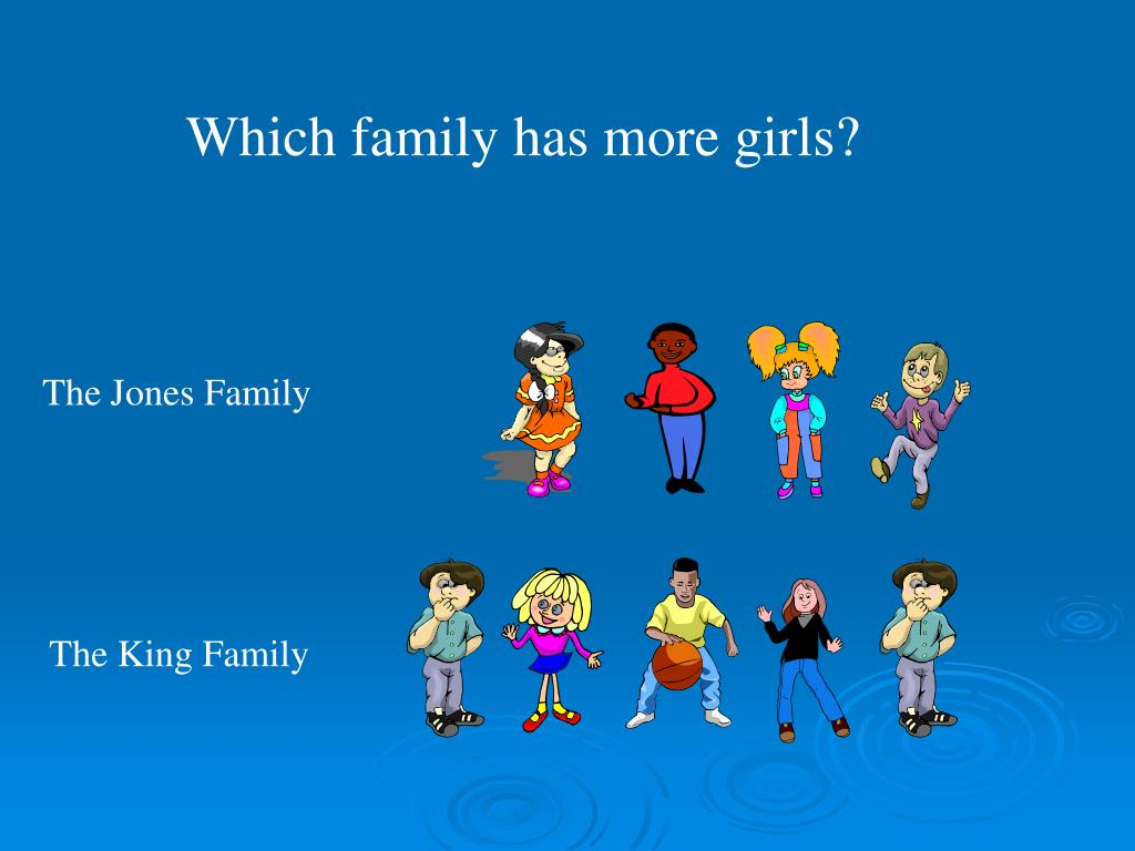 Which family has more girls?