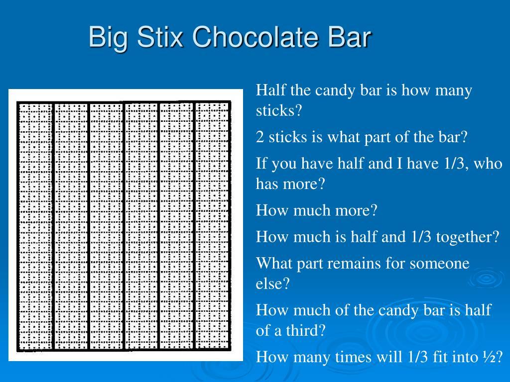 Big Stix Chocolate Bar