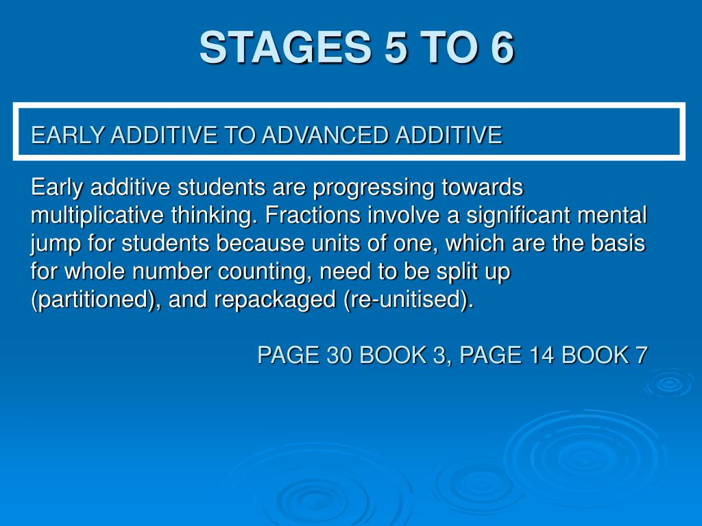 STAGES 5 TO 6