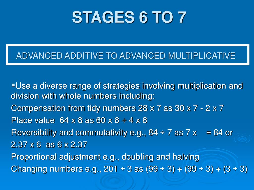 STAGES 6 TO 7