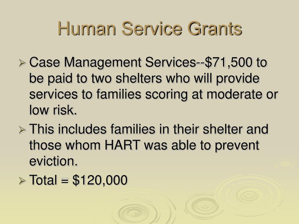 Human Service Grants