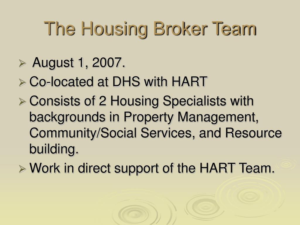 The Housing Broker Team