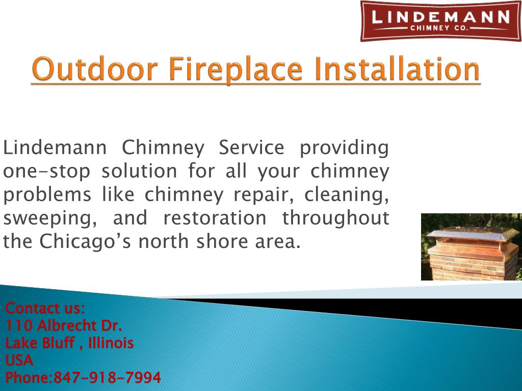 outdoor fireplace installation l.