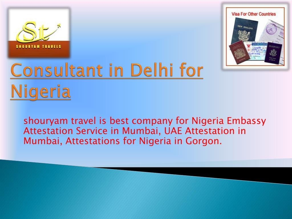 consultant in delhi for nigeria l.