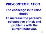 pre contemplation