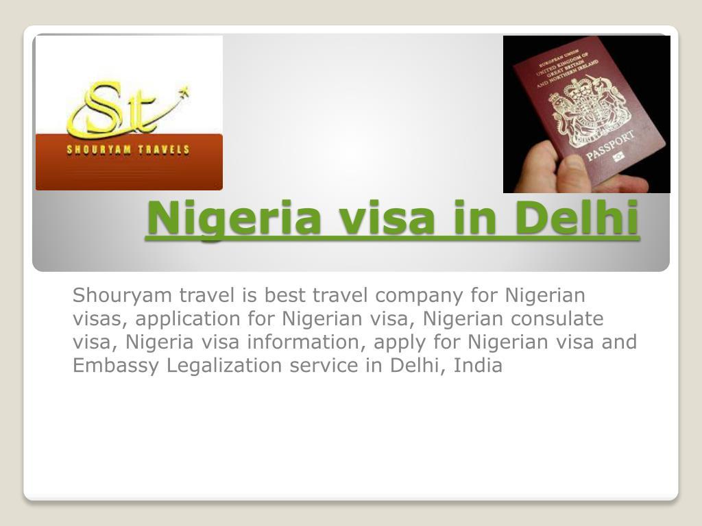 nigeria visa in delhi l.