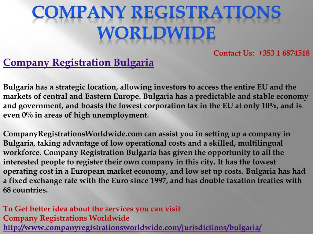 Company Registrations Worldwide