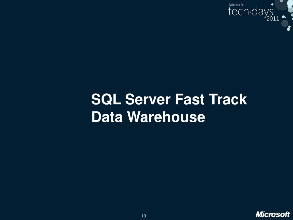 SQL Server Fast Track Data Warehouse