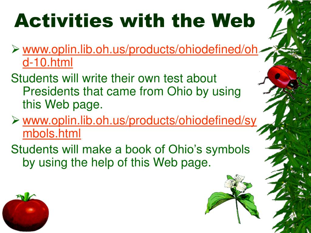 Activities with the Web