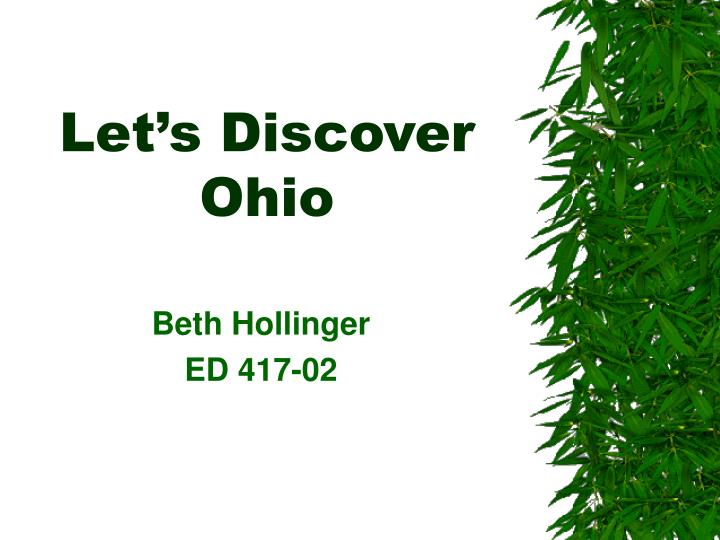 Let s discover ohio