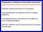 components of effective intervention instruction