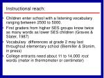 instructional reach