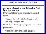 modifying instruction grouping