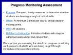 progress monitoring assessment