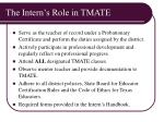 the intern s role in tmate