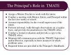 the principal s role in tmate
