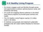 4 h healthy living program