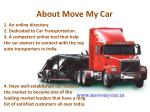 about move my car