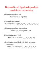bernoulli and dyad independent models for advice ties