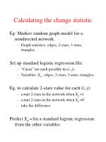 calculating the change statistic