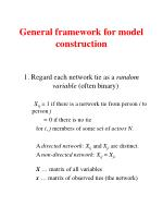 general framework for model construction
