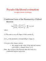 pseudo likelihood estimation an approximate technique