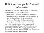 definition nonpublic personal information