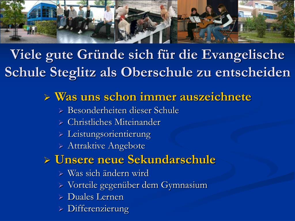 Viele gute Gründe sich für die Evangelische Schule Steglitz als Oberschule zu entscheiden