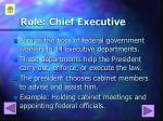 role chief executive