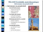 tba 4110 geoteknikk materialegenskaper informasjon om grunnforhold
