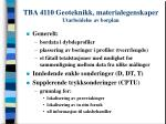 tba 4110 geoteknikk materialegenskaper utarbeidelse av borplan