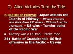 c allied victories turn the tide